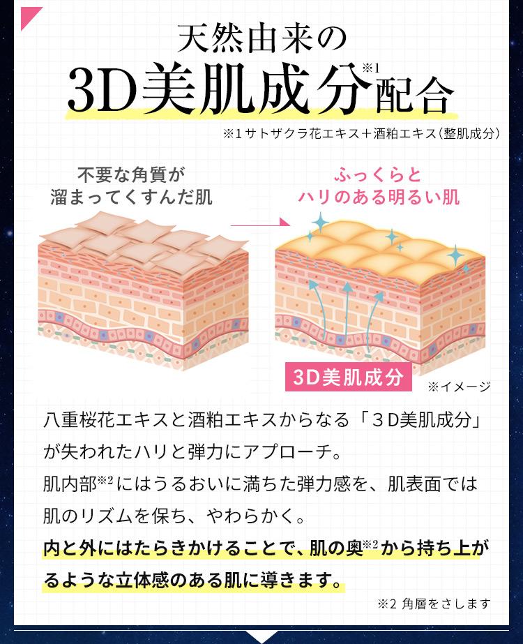 天然由来の3D美肌成分配合